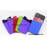 Multifunction lycra smart phone wallet 3M Sticker Smart Wallet for mobile phone Manufactures