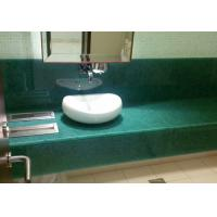 Single Sink Jade Polishing Stone Countertops For Restroom Eased Edge Manufactures