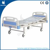 ABS Manual Drive Medical Hospital Beds Four Silent Wheels , 1 - Crank Manufactures