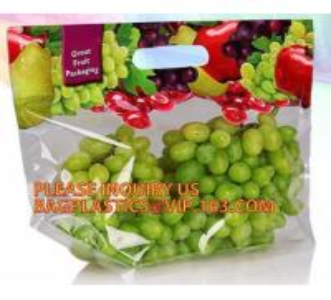 China fresh fruit plastic bag for packaging cherry, Bag For Fresh Fruit Sweet Cherry, Coin or U shape grape bag on sale