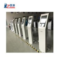 White Coated Ticket Vending Kiosk 19  Screen With Dual Amplified Speakers Manufactures