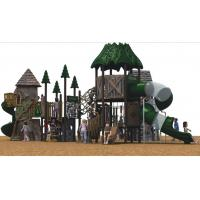 Natural Children Play Area Equipment , Resin Materail With Galvanized Steel Parts
