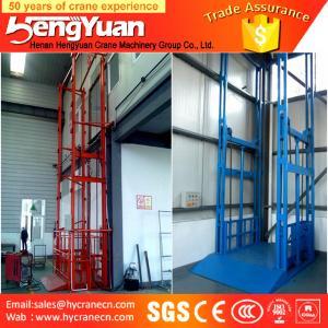 guide rail chain lifting machine/guide rail chain vertical guide rail goods lift Manufactures
