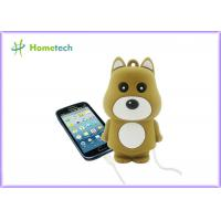 Mini Cute Rechargeable Powerbank Stylish Bear Shape For Mobile Phone Manufactures