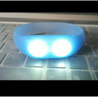 China sound and motion activated remote controlled led wristband silicone bracelets on sale