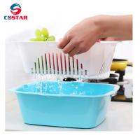 China Household water-draining plastic utensils basket vegetable and fruit drainer basket whole foods fruit baskets on sale