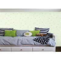 Flower Grass Design Kids Bedroom Wallpaper 0.53*10m With Embossed And Printing Tech Manufactures