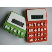 Waterproof Foldable Colorful Silicon Calculator For Promotion Gift With Customized LOGO Manufactures