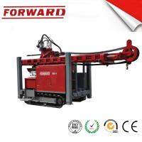 Crawler Mounted Hydraulic Mud / Water Borehole Drilling Rig 420 Mm Maximum Diameter Drilling Hole Manufactures