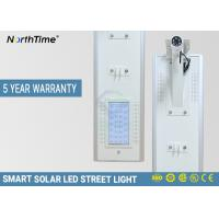 China 18V 65 W LED Solar Street Lights With LiFePO4 Rechargeable Battery 25 Years Lifespan on sale