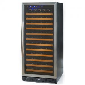 122 Bottles Compressor Wine Cooler (Fridges), Single Temp. Zone, Stainless Steel Door Trim
