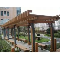 Anti - UV Weather Resist Composite Fence Panels WPC Pergola For Gardern Furniture Manufactures