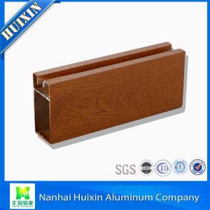 China 2015 Best Selling Wooden Grain Extruded Aluminum Window & Door Profiles on sale