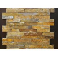 China Yellow And Gray Slate Culture Stone Veneer For Flast Wall Cladding Decor on sale