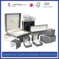 China Precious Jewelry Decorative Gift Boxes With Lids 4C Custom Printable Foil Stamping Box on sale