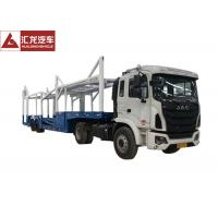 Goose Neck Car Carrier Truck , ABS Automobile Transport Trailers 14200KG Payload Manufactures