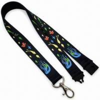2.0cm Sublimation Safety Lanyards with Black Plastic Safety Lock and Zinc-alloy Hook Manufactures