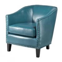 Faux Leather Oversized Living Room Chair With Single Row Nail Head Trim Manufactures