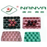 Quality Degradable Rectangular Paper Pulp Moulded Products Fruit Tray with 20 Cavities for sale