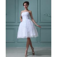 China Elegant Strapless A line Wedding Dresses lace Princess Wedding Gowns on sale