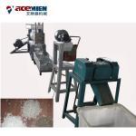PE PP Die Face Cutting Plastic Pelletizing Line , PE Film Water Ring Plastic Pelletizing Machine Manufactures