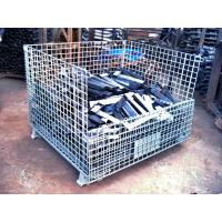 Folding Stackable Transit Equipment Steel Pallet Cages With U Shaped Manufactures