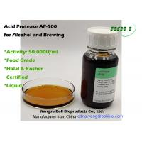 Liquid Acid Protease AP -500 For Aclohol Brewing Enzymes Activity 50000 U / Ml Manufactures