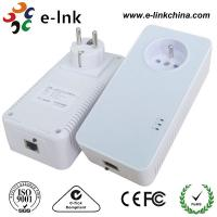 1200Mbps Passthrough Powerline Adapter with Power Socket Powerline Line Communication Manufactures