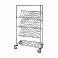 China OEM Commercial Wire Shelving  ,  5 Layer  Steel Slanted Shelving Unit For Company Promotion on sale