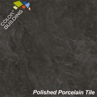 Black Polished Porcelain Tiles Water Proof Glossy 300mm X 600mm Manufactures