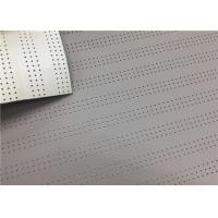 Custom Polyester Faux Leather , 1.0 Mm Light Grey Pvc Leather Fabric Fire Resistance Manufactures