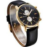 China WEIDE latest design fancy watch leather strap swiss mov't watches on sale
