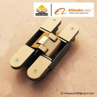 Zinc Alloy 3D Adjustable Concealed Hinge / Invisible hinge For Wooden Doors Manufactures
