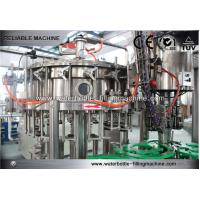 China Gravity Aseptic Glass Bottle Filling Machine Monoblock For Beverage , Purified Water on sale