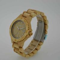 Fashion Custom Quartz Wood Watch / Mens Handcrafted Wood Watches , OEM ODM Service Manufactures