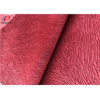 Burnout Synthetic Sofa Velvet Upholstery Fabric Custom Colour Polyester Minky Fabric Manufactures