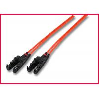 China OM2 MTRJ Zipcord Fiber Optic Patch Cable, Multimode Orange Optic OFNR Cable on sale