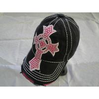 China Fashion Canvas Ladies Golf Caps 3D Embroidery With Custom Logo on sale