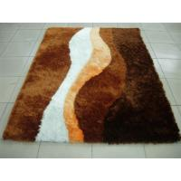 Persian Style Very Soft Polyester Silk Shaggy Carpet Popular Color Home Rug Manufactures