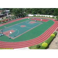 13mm Thick Layer Pure EPDM Rubber Granules , Colored Plastic sportsrunning track Manufactures