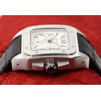 Quality Perfect Replica Cartier Santos Stainless Steel Case White Dial Chronograph 41mm for sale