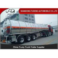 Stainless Steel Tanker Trailers With A Capacity Of 45000 Liters For Transport Of Palm Oil Manufactures