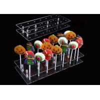 China 20 Hole Acrylic Lollipop Display Stand Cake Pop Stand Holder For Party Decoration on sale