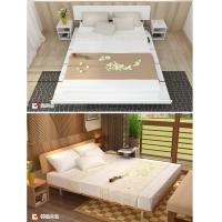 Quality Simple Japanese tatami type bed 1.5 meters MDF with metal double bed and 1.8 for sale