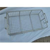 Stainless Steel Metal Wire Basket With Handle For Put Storage Manufactures