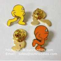 Color filled image icon lapel pins, color filled Cartoon icon emblem pin badge, Manufactures