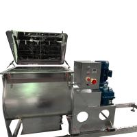 Spice Powder Industrial Paddle Mixer / Dry Powder Mixer Machine Easy Clean Manufactures