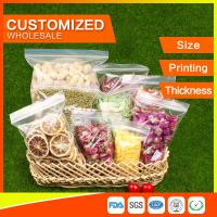 Customized Packing Ziplock Bags LDPE Poly Bags Food Packaging Clear Grip Seal Manufactures