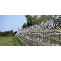 Professional Concertina Razor Wire Fencing For Parking Places / Railway Stations Manufactures