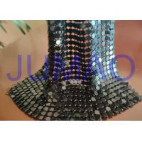 Black Slices Metal Sequin Fabric , 4 Mm * 4 Mm Common Areas Metal Flake Fabric Manufactures